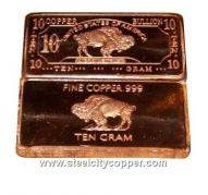 10 Gram Copper Buffalo Bar